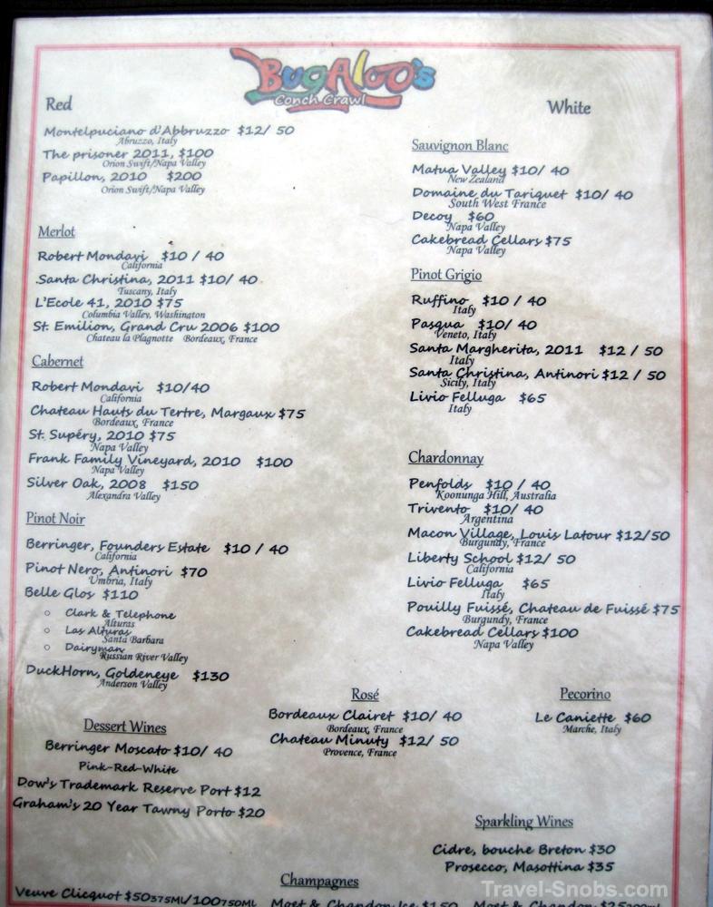 Caicos Cafe Grace Bay Menu