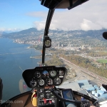 Sky Helicopters - Vancouver city tour - view of North Van
