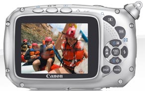 Canon PowerShot D10 Underwater Camera back