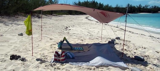 The Kelty Noah's Tarp as a Beach Shelter Sun Shade